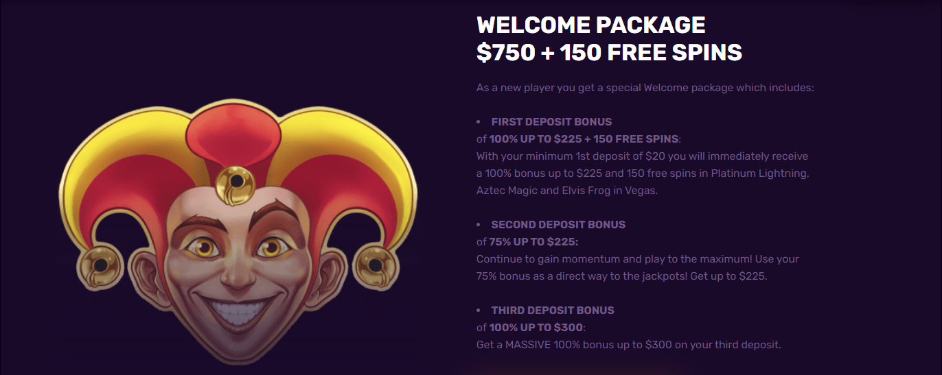 DuxCasino welcome package