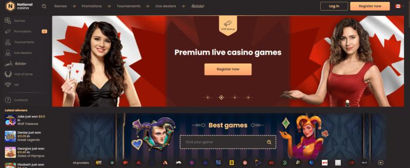 National casino lobby CA